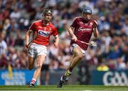 3 September 2017; Donal Mannion of Galway in action against Daire Connery of Cork during the Electric Ireland GAA Hurling All-Ireland Minor Championship Final match between Galway and Cork at Croke Park in Dublin. Photo by Seb Daly/Sportsfile