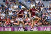 3 September 2017; Jack Canning of Galway celebrates after scoring his side's second goal during the Electric Ireland GAA Hurling All-Ireland Minor Championship Final match between Galway and Cork at Croke Park in Dublin. Photo by Eóin Noonan/Sportsfile