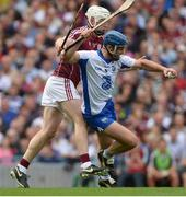 3 September 2017; Michael Walsh of Waterford in action against Joe Canning of Galway during the GAA Hurling All-Ireland Senior Championship Final match between Galway and Waterford at Croke Park in Dublin. Photo by Piaras Ó Mídheach/Sportsfile