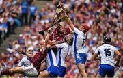 3 September 2017; Conor Whelan, left, Jonathan Glynn of Galway , contest possession with Noel Connors, Barry Coughlan and Tadhg de Búrca of Waterford during the GAA Hurling All-Ireland Senior Championship Final match between Galway and Waterford at Croke Park in Dublin. Photo by Brendan Moran/Sportsfile