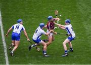 3 September 2017; Johnny Coen of Galway in action against Waterford players, left to right, Michael Walsh, Austin Gleeson, and Kieran Bennett, during the GAA Hurling All-Ireland Senior Championship Final match between Galway and Waterford at Croke Park in Dublin. Photo by Daire Brennan/Sportsfile