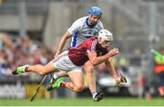 3 September 2017; Gearóid McInerney of Galway is tackled by Michael Walsh of Waterford during the GAA Hurling All-Ireland Senior Championship Final match between Galway and Waterford at Croke Park in Dublin. Photo by Ramsey Cardy/Sportsfile