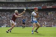 3 September 2017; Tadhg de Búrca of Waterford in action against Joe Canning of Galway during the GAA Hurling All-Ireland Senior Championship Final match between Galway and Waterford at Croke Park in Dublin. Photo by Piaras Ó Mídheach/Sportsfile