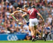 3 September 2017; Stephen O'Keeffe of Waterford in action against Aidan Harte of Galway during the GAA Hurling All-Ireland Senior Championship Final match between Galway and Waterford at Croke Park in Dublin. Photo by Eóin Noonan/Sportsfile