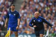 3 September 2017; Waterford manager Derek McGrath, right, and selector Dan Shanahan, left, during the GAA Hurling All-Ireland Senior Championship Final match between Galway and Waterford at Croke Park in Dublin. Photo by Seb Daly/Sportsfile