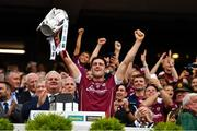 3 September 2017; Galway captain David Burke lifts the Liam MacCarthy cup after the GAA Hurling All-Ireland Senior Championship Final match between Galway and Waterford at Croke Park in Dublin. Photo by Brendan Moran/Sportsfile