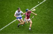 3 September 2017; Conor Cooney of Galway in action against Barry Coughlan of Waterford during the GAA Hurling All-Ireland Senior Championship Final match between Galway and Waterford at Croke Park in Dublin. Photo by Daire Brennan/Sportsfile