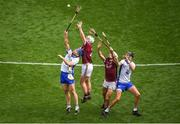 3 September 2017; Michael Walsh, left, and Maurice Shanahan of Waterford in action against John Hanbury, left, and Daithí Burke of Galway during the GAA Hurling All-Ireland Senior Championship Final match between Galway and Waterford at Croke Park in Dublin. Photo by Daire Brennan/Sportsfile