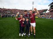 3 September 2017; Joe Canning of Galway and family, including his nephew Jack Canning, a member of the victorious Galway minor team, celebrates following the GAA Hurling All-Ireland Senior Championship Final match between Galway and Waterford at Croke Park in Dublin. Photo by Stephen McCarthy/Sportsfile