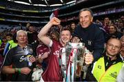3 September 2017; Joe Canning of Galway celebrates with former Galway hurler John Connolly following the GAA Hurling All-Ireland Senior Championship Final match between Galway and Waterford at Croke Park in Dublin. Photo by Stephen McCarthy/Sportsfile