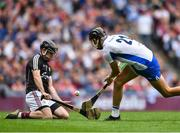 3 September 2017; Maurice Shanahan of Waterford  has his shot saved by Colm Callanan of Galway during the GAA Hurling All-Ireland Senior Championship Final match between Galway and Waterford at Croke Park in Dublin. Photo by Eóin Noonan/Sportsfile