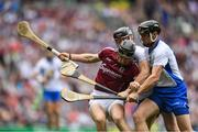 3 September 2017; Aidan Harte of Galway in action against Pauric Mahony and Kevin Moran of Waterford during the GAA Hurling All-Ireland Senior Championship Final match between Galway and Waterford at Croke Park in Dublin. Photo by Eóin Noonan/Sportsfile