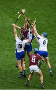 3 September 2017; Aidan Harte of Galway in action against Waterford players, left to right, Kevin Moran, Pauric Mahony, and Austin Gleeson during the GAA Hurling All-Ireland Senior Championship Final match between Galway and Waterford at Croke Park in Dublin. Photo by Daire Brennan/Sportsfile