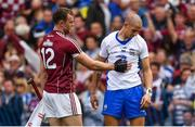 3 September 2017; Jonathan Glynn of Galway consoles Maurice Shanahan of Waterford after the GAA Hurling All-Ireland Senior Championship Final match between Galway and Waterford at Croke Park in Dublin. Photo by Brendan Moran/Sportsfile