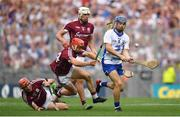 3 September 2017; Colin Dunford of Waterford in action against Conor Whelan, left, and Conor Cooney of Galway during the GAA Hurling All-Ireland Senior Championship Final match between Galway and Waterford at Croke Park in Dublin. Photo by Brendan Moran/Sportsfile