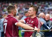 3 September 2017; Aidan Harte Joe Canning of Galway celebrate following the GAA Hurling All-Ireland Senior Championship Final match between Galway and Waterford at Croke Park in Dublin. Photo by Sam Barnes/Sportsfile