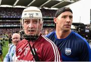 3 September 2017; Joe Canning of Galway, left, and Waterford selector Dan Shanahan after the GAA Hurling All-Ireland Senior Championship Final match between Galway and Waterford at Croke Park in Dublin. Photo by Eóin Noonan/Sportsfile