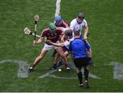 3 September 2017; Referee Fergal Horgan throws in the ball between David Burke, left, and Johnny Coen of Galway and Jamie Barron, left,and Kevin Moran of Waterford to start the GAA Hurling All-Ireland Senior Championship Final match between Galway and Waterford at Croke Park in Dublin. Photo by Daire Brennan/Sportsfile