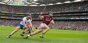 3 September 2017; Conor Cooney of Galway in action against Darragh Fives of Waterford  during the GAA Hurling All-Ireland Senior Championship Final match between Galway and Waterford at Croke Park in Dublin. Photo by Ray McManus/Sportsfile