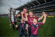 3 September 2017; Joe Canning of Galway and his nephews celebrate following the GAA Hurling All-Ireland Senior Championship Final match between Galway and Waterford at Croke Park in Dublin. Photo by Stephen McCarthy/Sportsfile