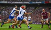 3 September 2017; Niall Burke of Galway in action against Tadhg de Burca of Waterford  during the GAA Hurling All-Ireland Senior Championship Final match between Galway and Waterford at Croke Park in Dublin. Photo by Sam Barnes/Sportsfile