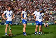 3 September 2017; Waterford players including, from left, Tadhg de Burca, Darragh Fives and Colin Dunford following the GAA Hurling All-Ireland Senior Championship Final match between Galway and Waterford at Croke Park in Dublin. Photo by Sam Barnes/Sportsfile