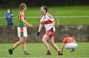 3 September 2017; Dania Donnelly of Derry celebrates after the TG4 Ladies Football All Ireland Junior Championship Semi-Final match between Carlow and Derry at Lannleire in Dunleer, Co Louth. Photo by Matt Browne/Sportsfile