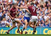 3 September 2017; Tommy Ryan of Waterford is tackled by Aidan Harte of Galway during the GAA Hurling All-Ireland Senior Championship Final match between Galway and Waterford at Croke Park in Dublin. Photo by Brendan Moran/Sportsfile