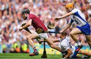 3 September 2017; Pádraic Mannion of Galway breaks away from Maurice Shanahan and Tommy Ryan of Waterford during the GAA Hurling All-Ireland Senior Championship Final match between Galway and Waterford at Croke Park in Dublin. Photo by Brendan Moran/Sportsfile