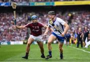 3 September 2017; Kevin Moran of Waterford in action against Johnny Coen of Galway during the GAA Hurling All-Ireland Senior Championship Final match between Galway and Waterford at Croke Park in Dublin. Photo by Stephen McCarthy/Sportsfile