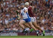 3 September 2017; Austin Gleeson of Waterford in action against Gearóid McInerney of Galway during the GAA Hurling All-Ireland Senior Championship Final match between Galway and Waterford at Croke Park in Dublin. Photo by Piaras Ó Mídheach/Sportsfile