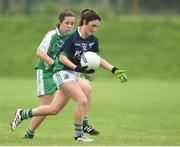 3 September 2017; Lisa Maguire of Fermanagh in action against Rebecca Mills of London during the TG4 Ladies Football All Ireland Junior Championship Semi-Final match between Fermanagh and London at Lannleire in Dunleer, Co Louth. Photo by Matt Browne/Sportsfile