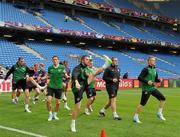9 June 2012; Republic of Ireland players, from left to right, John O'Shea, Keith Andrews, Robbie Keane, Kevin Doyle, Richard Dunne and Damien Duff in action during squad training ahead of their opening UEFA EURO 2012, Group C, game against Croatia on Sunday. Republic of Ireland EURO2012 Squad Training, Municipal Stadium Poznan, Poznan, Poland. Picture credit: David Maher / SPORTSFILE