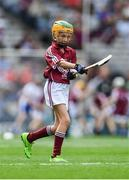 3 September 2017; Laura Maguire of Scoil Chlann Naofa, Ballinamore, Co Leitrim,  representing Galway, during the INTO Cumann na mBunscol GAA Respect Exhibition Go Games at Galway v Waterford - GAA Hurling All-Ireland Senior Championship Final at Croke Park in Dublin. Photo by Sam Barnes/Sportsfile
