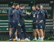 4 September 2017; Wesley Hoolahan shakes hands with Seamus Coleman of Republic of Ireland during squad training at FAI NTC in Abbotstown, Dublin. Photo by David Maher/Sportsfile