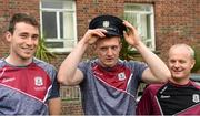 4 September 2017; Galway hurlers Conor Cooney, left, Joe Canning and Galway manager Micheál Donoghue during the All-Ireland Hurling Champions visit to Our Lady's Children's Hospital in Crumlin, Dublin. Photo by Piaras Ó Mídheach/Sportsfile
