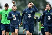 4 September 2017; Republic of Ireland players from left, Kevin Long, Wesley Hoolahan, Robbie Brady and Aiden McGeady during squad training at FAI NTC in Abbotstown, Dublin. Photo by David Maher/Sportsfile