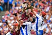 3 September 2017; Conor Whelan, left, Jonathan Glynn of Galway, contest possession with Noel Connors, Barry Coughlan and Tadhg de Búrca of Waterford during the GAA Hurling All-Ireland Senior Championship Final match between Galway and Waterford at Croke Park in Dublin. Photo by Brendan Moran/Sportsfile