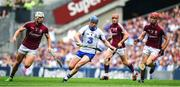 3 September 2017; Austin Gleeson of Waterford in action against Gearóid McInerney, left, and Jonathan Glynn of Galway during the GAA Hurling All-Ireland Senior Championship Final match between Galway and Waterford at Croke Park in Dublin. Photo by Brendan Moran/Sportsfile