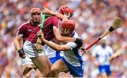 3 September 2017; Tadhg de Búrca of Waterford is tackled by Jonathan Glynn of Galway during the GAA Hurling All-Ireland Senior Championship Final match between Galway and Waterford at Croke Park in Dublin. Photo by Brendan Moran/Sportsfile