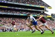 3 September 2017; Maurice Shanahan of Waterford in action against Adrian Tuohy of Galway during the GAA Hurling All-Ireland Senior Championship Final match between Galway and Waterford at Croke Park in Dublin. Photo by Ramsey Cardy/Sportsfile