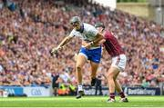 3 September 2017; Maurice Shanahan of Waterford is tackled by Adrian Tuohy of Galway during the GAA Hurling All-Ireland Senior Championship Final match between Galway and Waterford at Croke Park in Dublin. Photo by Ramsey Cardy/Sportsfile