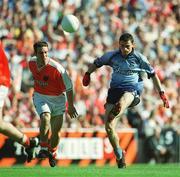 1 September 2002; Dublin's Alan Brogan in action against Armagh's Enda McNulty. Dublin v Armagh, All Ireland Football Semi - Final, Croke Park, Dublin. Picture credit; Brian Lawless / SPORTSFILE