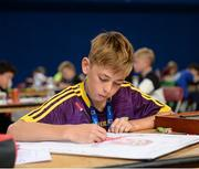 20 August 2017; Rory Roche, from Piercestown-Murrinstown, Co Wexford, competes in the U12 Boys Art event during the Community Games August Festival 2017 at the National Sports Campus in Dublin. Photo by Cody Glenn/Sportsfile
