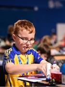 20 August 2017; Robbie Stanley, from Ardcarne, Co Roscommon, competes in the U10 Boys Model Making event during the Community Games August Festival 2017 at the National Sports Campus in Dublin. Photo by Cody Glenn/Sportsfile