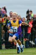 20 August 2017; Harry Devereux of Bree-Davidstown, Co Wexford, on his way to finishing second in the Boys U10 and O8 100m final during day 2 of the Aldi Community Games August Festival 2017 at the National Sports Campus in Dublin. Photo by Sam Barnes/Sportsfile