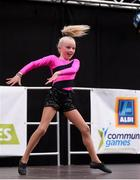 20 August 2017; Olivia Hyland, from St Clonleths, Co. Kildare, competes in the U12 Solo Dance event during day 2 of the Aldi Community Games August Festival 2017 at the National Sports Campus in Dublin. Photo by Cody Glenn/Sportsfile