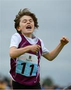 20 August 2017; Tom Henry of Tuam, Co Galway, celebrates after winning the Boys U8 and O6 80m final during day 2 of the Aldi Community Games August Festival 2017 at the National Sports Campus in Dublin. Photo by Sam Barnes/Sportsfile