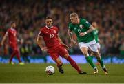5 September 2017; James McClean of Republic of Ireland in action against Dušan Tadic of Serbia during the FIFA World Cup Qualifier Group D match between Republic of Ireland and Serbia at the Aviva Stadium in Dublin. Photo by Seb Daly/Sportsfile