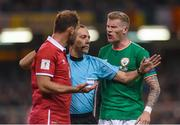 5 September 2017; James McClean of Republic of Ireland clashes with Branislav Ivanovic of Serbia during the FIFA World Cup Qualifier Group D match between Republic of Ireland and Serbia at the Aviva Stadium in Dublin. Photo by Matt Browne/Sportsfile